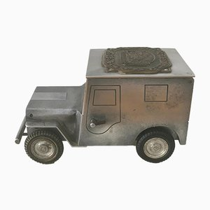 WWII Jeep Cigarette Case and Lighter from Walter Baier, 1949