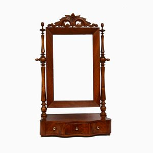 Small Antique Victorian Dressing Table with Mirror