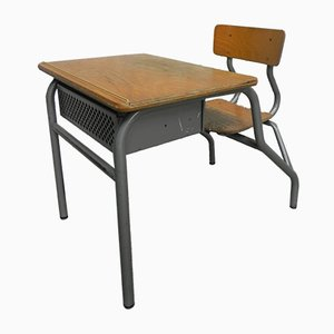 Industrieller Kinderschreibtisch mit Stuhl, 1960er