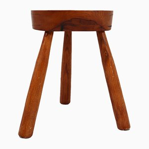 French Elm Stool, 1950s