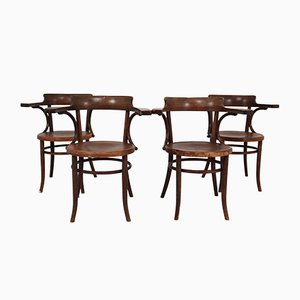 Antique Bentwood Armchairs by Michael Thonet, Set of 4