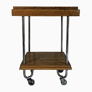 Mid-Century Wood & Metal Trolley, 1950s