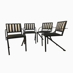 Compass Dining Chairs by Jean Michel Wilmotte, 1980s, Set of 4