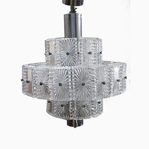 Cut Crystal Chandelier, 1970s