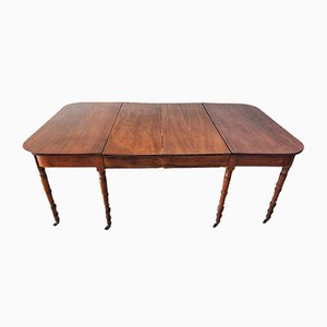 19th-Century Regency Style Mahogany Dining Table
