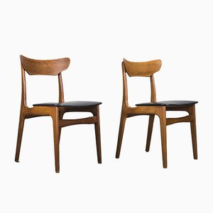 Mid-Century Teak Dining Chairs by Schiønning & Elgaard for Schionning and Elgaard, 1960s, Set of 2