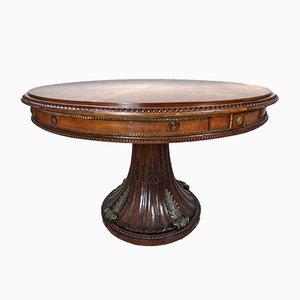 Mesa de comedor antigua de caoba