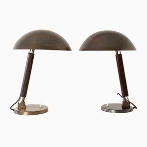 Lámpara de mesa suiza de Karl Trabert para B.A.G., años 30