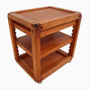 Elm Side Table by Pierre Chapo, 1970s