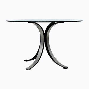 Tavolo da pranzo T69 rotondo di Osvaldo Borsani per Tecno, anni '60