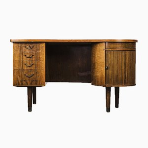 Walnut Model 54 Desk by Kai Kristiansen for FM Møbler, 1950s