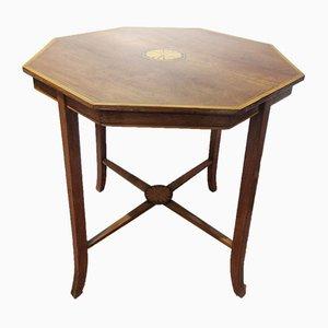 Tavolino da caffè vittoriano antico in mogano