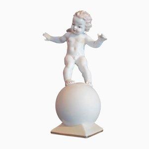 Escultura de ángel de porcelana de Tutter para Hutschenreuther, años 30