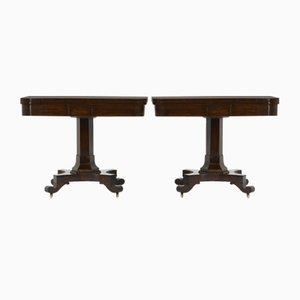Antique Rosewood Game Tables, Set of 2