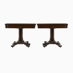 Mesas para juegos antiguas de palisandro. Juego de 2