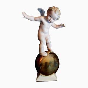 Engelskulptur aus Porzellan von Tutter für Hutschenreuther, 1940er