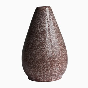 Mid-Century Dutch Modernist Vase with Crackle Glaze from German Pottery, 1960s
