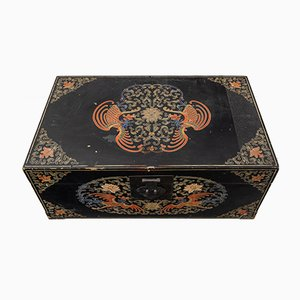 Mid-Century Chinese Lacquered Wooden Trunk, 1950s