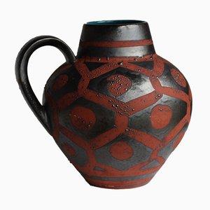 Kastanienbraune Mid-Century Vase von Carstens Tönnieshof