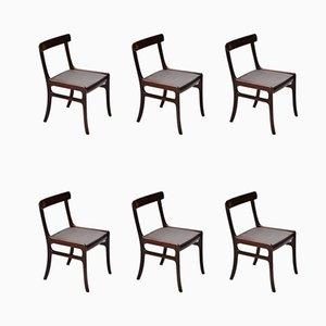 Dänische Rungstedlund Esszimmerstühle von Ole Wanscher für Poul Jeppesens Møbelfabrik, 1950er, 6er Set