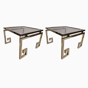 Brass Side Tables from Belgo Chrom, 1970s, Set of 2