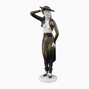 Weibliche Statue von Wolfgang Schwartzkoff für Rosenthal, 1929