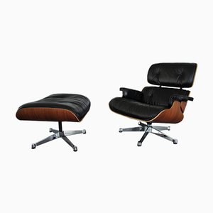 Rosewood Lounge Chair & Ottoman by Charles & Ray Eames for Vitra, 2000s