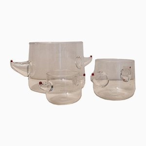 Vasi postmoderni in vetro di Murano di Noti Massari per Gamos, anni '80, set di 3