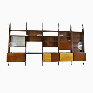 Estante de pared modular vintage grande de Jitona, años 60