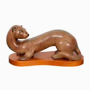 Vintage Ferret Figurine by Gunnar Nylund for Rörstrand, 1960s