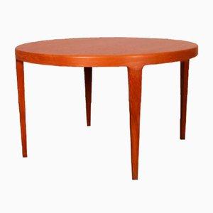 Mesa de comedor escandinava vintage redonda, años 60