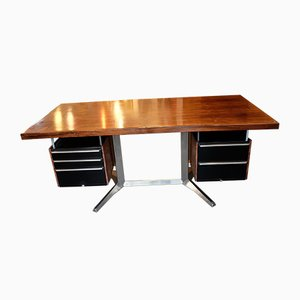 Rosewood Desk by Daciano da Costa for Metalúrgica da Longra, 1960s