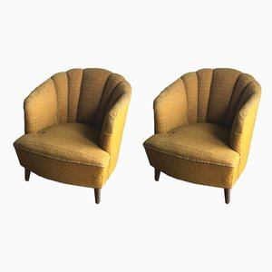 Art Deco Style Armchairs, 1940s, Set of 2