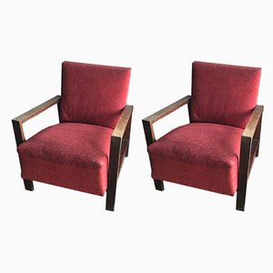 Art Deco Style Lounge Chairs, 1940s, Set of 2