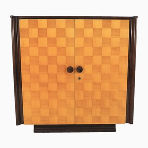 Birch & Mahogany Checkered Cabinet by Jindřich Halabala for UP Závody, 1949
