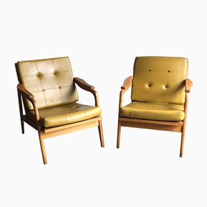 Mid-Century Sessel mit Gestell aus Holz, 1960er, 2er Set