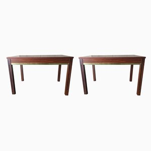 Swedish Rosewood Console Tables, 1970s, Set of 2