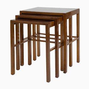 Tavolini ad incastro Bauhaus vintage di Jindřich Halabala per Thonet