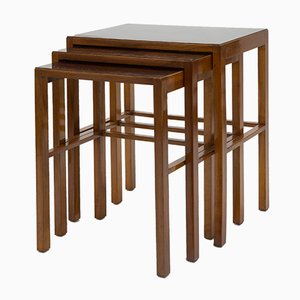 Vintage Bauhaus Nesting Tables by Jindřich Halabala for Thonet
