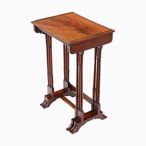 Tavolini ad incastro da gioco antichi edoardiani in mogano