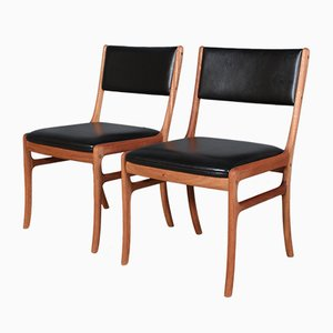 Model PJ 412 Mahogany Dining Chair by Ole Wanscher for Poul Jeppesens Møbelfabrik, 1960s