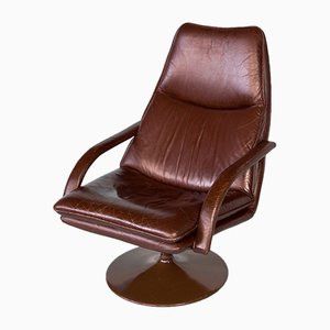 Leather Amrchair, 1960s