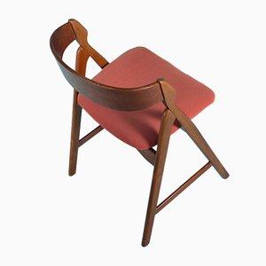 Silla de escritorio danesa de teca, años 60