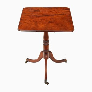 Tavolino Regency antico in mogano con ripiano ribaltabile