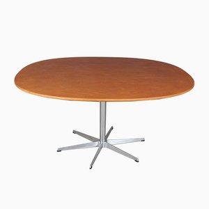 Tavolo da pranzo in alluminio e pelle anilina di Piet Hein and Bruno Mathsson per Fritz Hansen, Danimarca, 2004