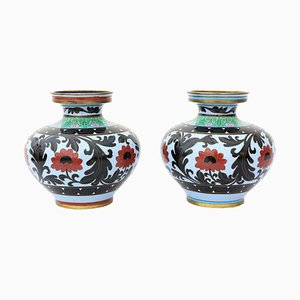 Large Antique Chinese Vases, Set of 2