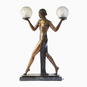 Bronze Art Deco Table Lamp, 1970s