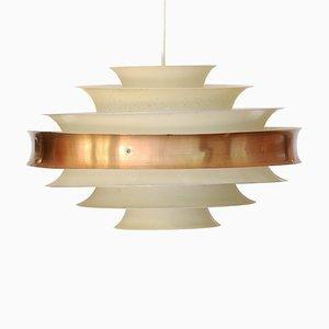 Swedish Copper Pendant Lamp, 1960s