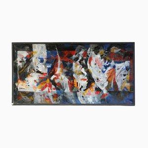 Mid-Century Öl auf Leinwand von Eliane Rosso