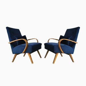 Art Deco Style Easy Chairs from TON, 1960s, Set of 2